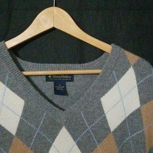 Brooks Brothers Cashmere V-Neck Sweater XL